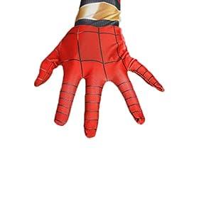 - 31bNgNC0TsL - Newhui Teens Kids Halloween Spider Red Zentai Costume Bodysuit Cosplay Mask