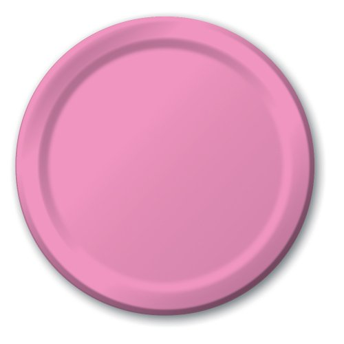 Creative Converting 24-Count Touch of Color Paper Banquet Plates, Candy Pink