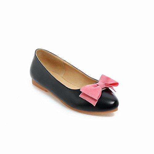 Mostrar Shine Moda Para Mujer Colores Surtidos Arcos Flats Zapatos Negro
