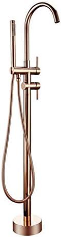 ローズゴールドの支えがない浴室の蛇口 真鍮のシャワーの下水管