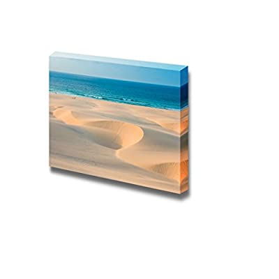 Sand Dunes in Chaves Beach Praia De Chaves in Boavista Cape Verde Wall Decor, Created By a Professional Artist, Gorgeous Design