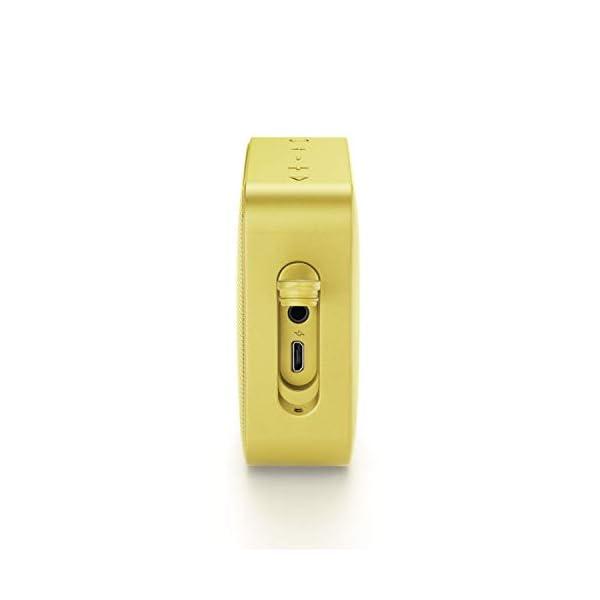 JBL Go 2 - Mini enceinte Bluetooth Portable - Étanche pour Piscine & Plage Ipx7 - Autonomie 5hrs - Qualité Audio JBL - Jaune 4