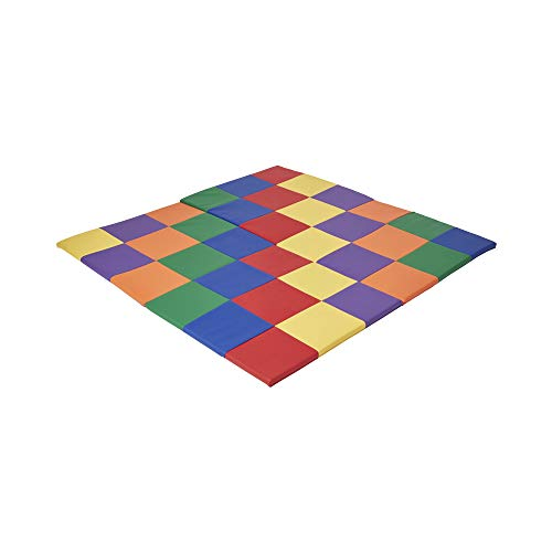 "ECR4Kids Softzone Patchwork Toddler Foam Play Mat, 58"" Square, Primary"