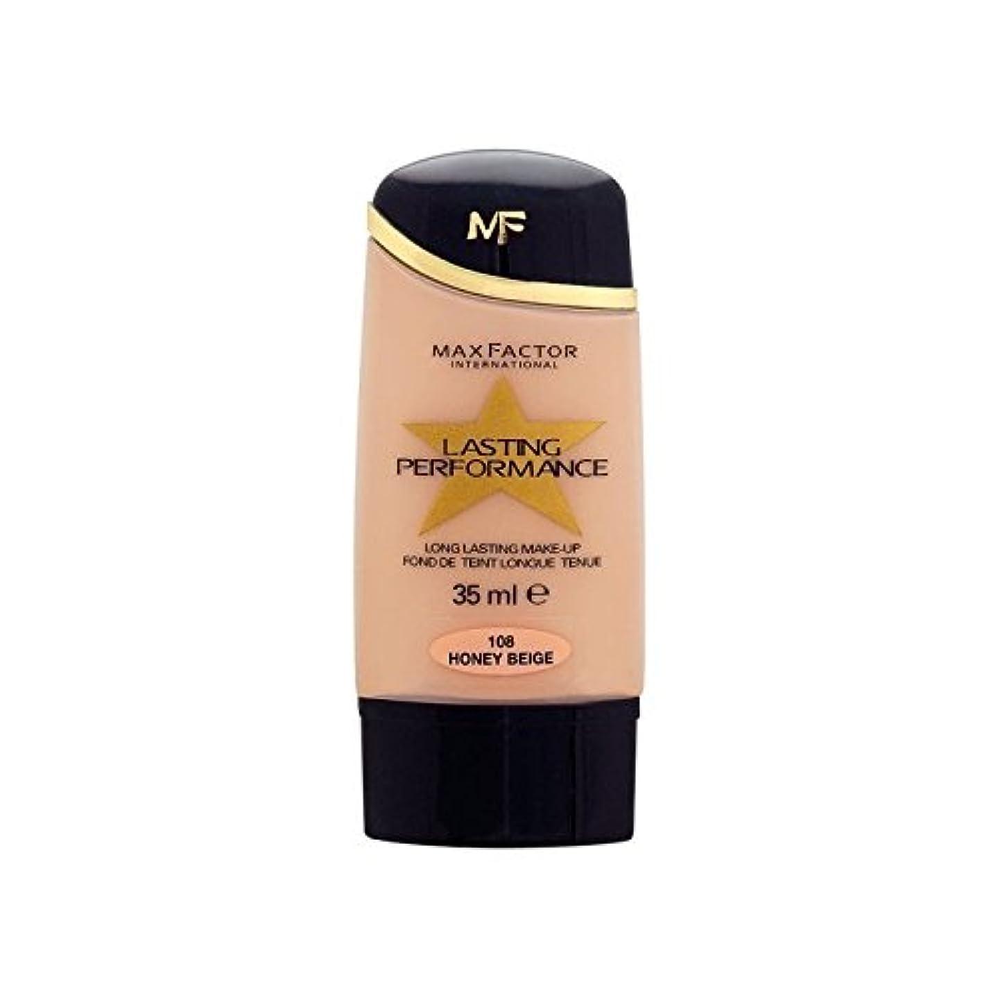 ラフレシアアルノルディ人工的な絞るマックスファクター持続パフォーマンスの基礎ハニーベージュ108 x4 - Max Factor Lasting Performance Foundation Honey Beige 108 (Pack of 4) [並行輸入品]
