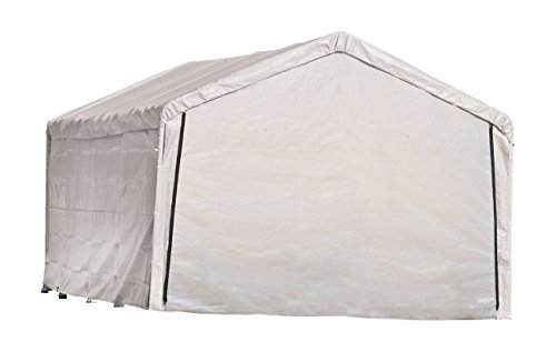ShelterLogic 12-Feet Super Max Canopy Accessories Enclosure Kit, White, 12