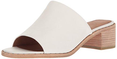 FRYE Women's Cindy Mule Heeled Sandal, White, 9.5 M - Italian Leather White Designer