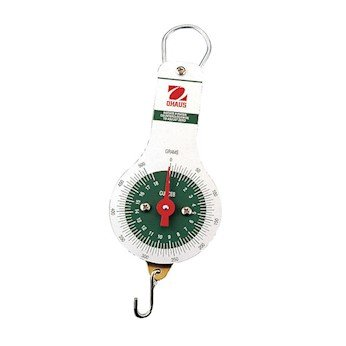 Ohaus 8014-MA Dial-Type Hanging Spring Scale, 2000g x 20g, 72 oz x 1/2 - Dial Ohaus