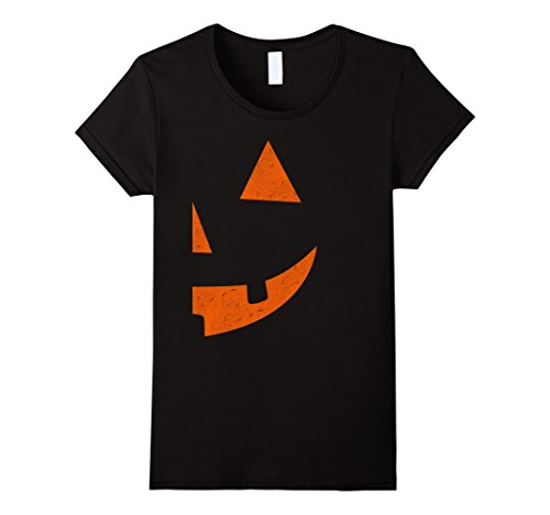 Double Halloween Costumes (Womens Jack O Lantern T-shirt Jackolantern Couple Halloween Costume Medium Black)
