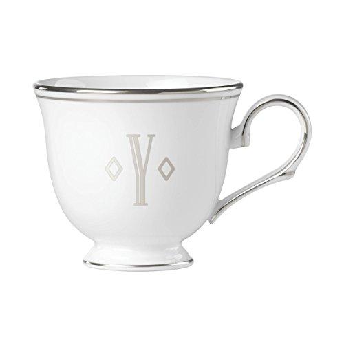 (Lenox Federal Platinum Block Monogram Dinnerware Teacup, Y)