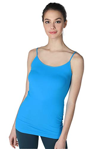 (NIKIBIKI Women Seamless Premium Classic Camisole, Made in U.S.A, One Size (Turquoise))