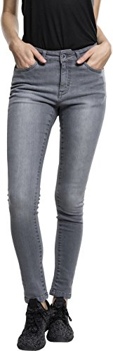 Urban Classics Ladies Denim Pants, Vaquero Skinny para Mujer Grau (Grey 111)