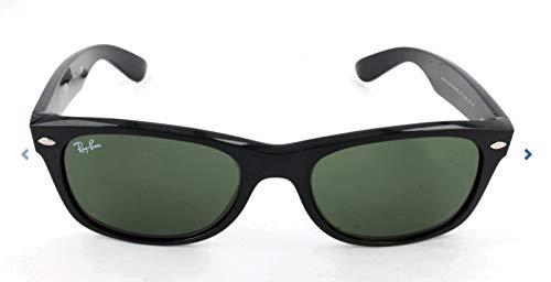Ray-Ban RB2132 New Wayfarer Sunglasses, Black/Green, 55 mm