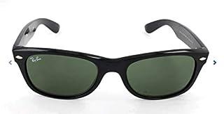 RAY-BAN RB2132 New Wayfarer Polarized Sunglasses, Black/Polarized Green, 52 mm (B002Y2YSIC) | Amazon price tracker / tracking, Amazon price history charts, Amazon price watches, Amazon price drop alerts