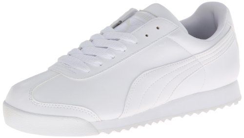 Puma White Shoes (PUMA Women's Roma Basic Classic Sneaker,White/Light Gray,7 B US)