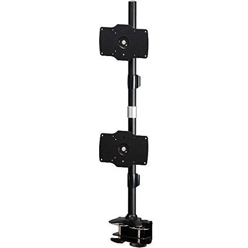 Amer Mounts AMR2C32V: Large Vertical Dual Monitor Mount - Desk Clamp - Displays up to 2/Two 32 inch LCD/LED Screens