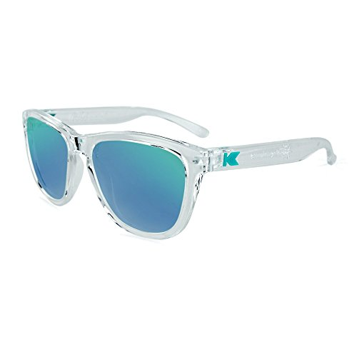 Knockaround Kid's Premiums Sunglasses, Clear Frames/ Green Moonshine - Sunglasses Knockaround