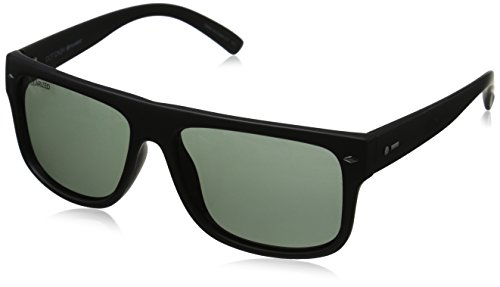 Dot Dash Sidecar Wayfarer Polarized Sunglasses,Black Satin,55 - Progressive Polarized Sunglasses