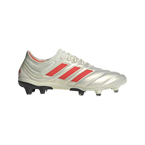 adidas Copa 19.1 FG Cleat - Men's Soccer 10.5 Off White/Solar Red/White