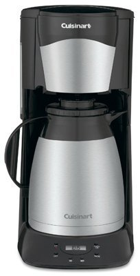 Cuisinart Programmable Thermal Coffeemaker 12 Cup Black Stainless Steel