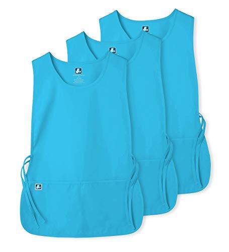 2 Pocket Cobbler Apron - Adar Unisex Cobbler Apron (3 Pack) with 2 Pockets / Adjustable Ties - Available in 30 Colors - 7023 - TRQ - R