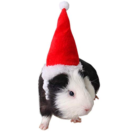 Yu-Xiang Hamster Christmas Hat Squirrel Christmas Dress Up Cat Christmas Hat Small Pet Christmas Headdress for Rabbit…