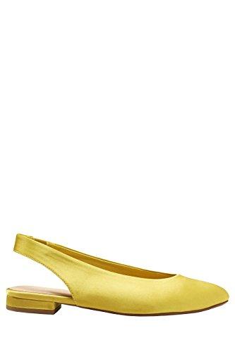next Mujer Zapatos abiertos con puntera redonda Corte Regular Citrine Satin