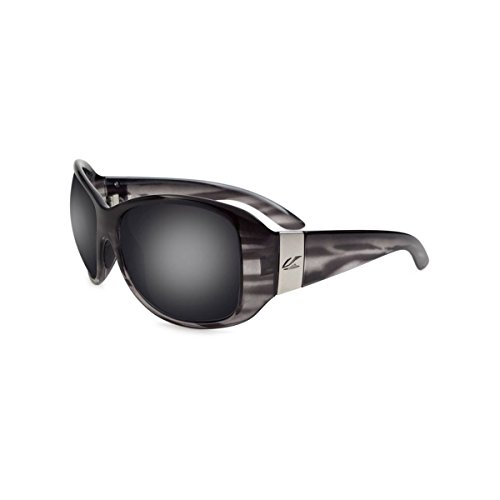 Kaenon Women's Maywood Polarized Round Sunglasses, Smoke & Mirrors, 61.5 mm