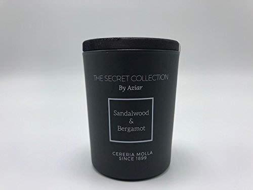 CERERIA MOLLA 1899 - The Secret Collection by Aziar Sandalwood & Bergamot Luxury Scented Candle 2.46oz