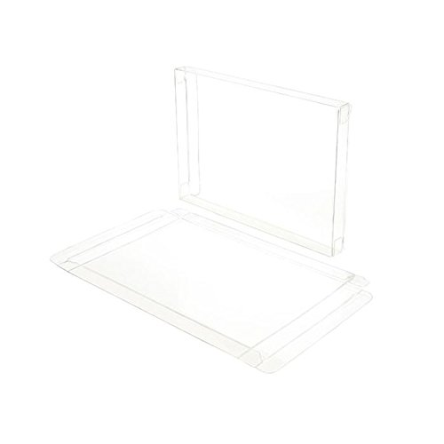 Greetings Box - ClearBags Crystal Clear Box for Holiday Greeting Cards | High Density PET Soft Fold Design Protects Cards, Letters, Photos, Favors | Acid Free & Archival Safe | 25 Boxes (A7 | for 8 Card Sets)