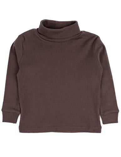 Leveret Solid Turtleneck 100% Cotton (2 Toddler, Brown)