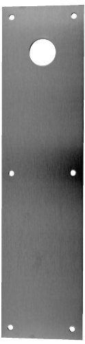 """Don-Jo CFK71 Stainless Steel Push Plate with 2-1/8"""" Single Hole, Satin Stainless Steel Finish, 4"""" Width x 16"""" Height x 3/64"""" Thick"""