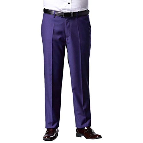Anzug Taglia Hose Formal Traspirante Straight Pantaloni 36 Con Party Prom Fit Morbido 46 Blu Uomo Anti Gute Slim Wedding Rughe Tasche Giovane Suit HaWZq