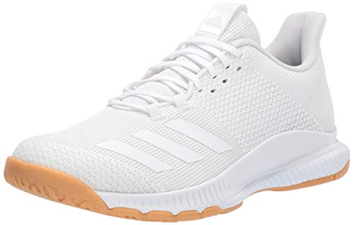 adidas Women's Crazyflight Bounce 3 Volleyball Shoe, White/Gum, 9 M US ()