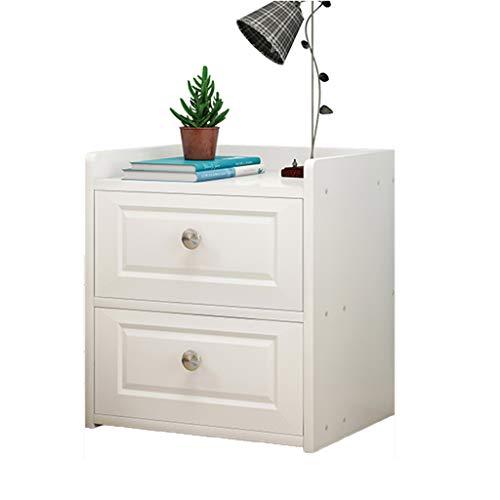 GXYAWPJ Armario de cabecera Simple de Madera Dormitorio en el Dormitorio Armario de cabecera Muebles (Color : Blanco)