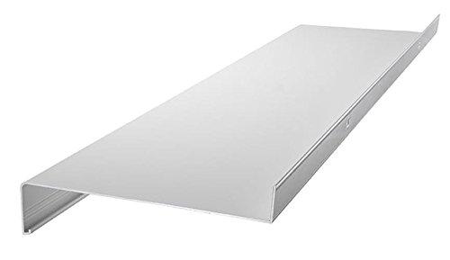 Aluminium Fensterbank Fensterbrett Ausladung 110 mm weiß, silber, dunkelbronze, anthrazit