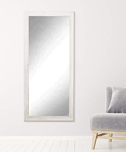 (BrandtWorks BM018T Coastal Whitewood Floor Mirror, 70.5 x 31.5, White)