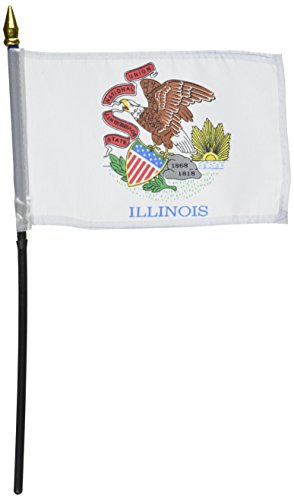 US Flag Store Illinois Flag 4 by 6-Inch