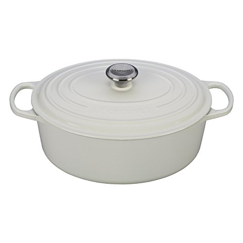 Le Creuset Signature White Enameled Cast Iron 5 Quart Oval Dutch Oven (Le Creates Small Dutch Oven compare prices)