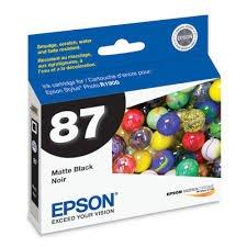 Epson Genuine Brand Name, OEM T087820 No. 87 Matte Black Ultrachrome Hi-Gloss 2 Inkjet Cartridge for (Epson 87 Ultrachrome Ink)