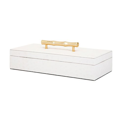 Imax Lidded Box - Lidded Box in White Finish
