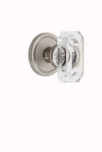 Grandeur 827798 Circulaire Rosette Passage with Baguette Crystal Knob in Satin Nickel, 2.375