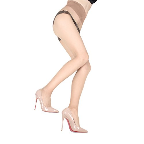 - Blostirno Women's Summer Tights Ultra-sheer Pantyhose Control Top Invisible 1 Denier (1 Den Natural US-S/M/ASIAN M/L)