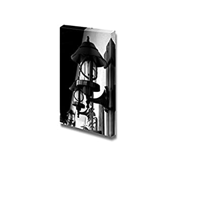 Canvas Prints Wall Art - Wrought Iron Street Lamps Old-Fashioned on Building Wall Outdoors - 18