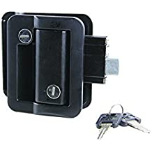 Lippert 239631 Global RV Entry Door Latch Kit for Travel Trailer Black by Lippert Components