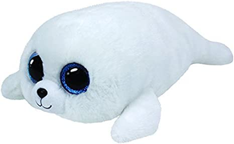 97768911476 Image Unavailable. Image not available for. Color  ICY - white seal med by Ty  Beanie Boos