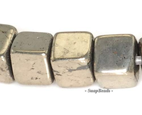 4mm Palazzo Iron Pyrite Gemstone Perfect Square Cube 4x4mm Loose Beads 7.5 inch Half Strand (90145071-410)
