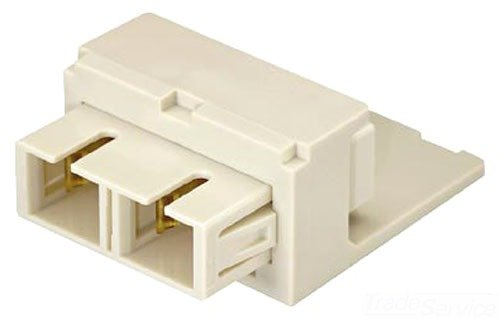 Panduit CMDEISCIW Multi-Mode Fiber Optic Adapter Module with Phosphor Bronze Sleeve, Off White