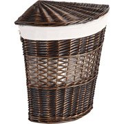 UPC 823420878048, Better Homes and Gardens Wicker Lidded Wedge Hamper, Brown