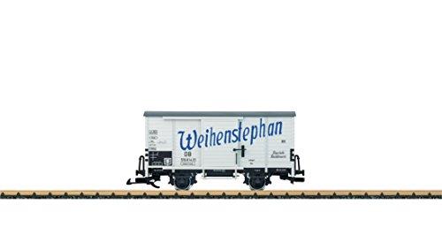 Lgb Train Toy (LGB G SCALE WOOD BEER BOXCAR - READY TO RUN -- WEIHENSTEPHAN (ERA III, WHITE, BLUE) 43357)