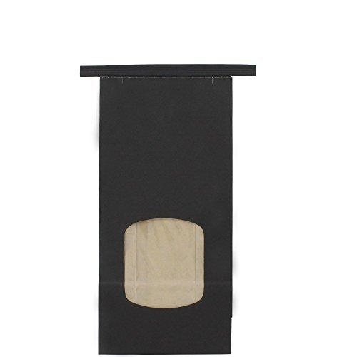 Chalkboard Black Window Resealable Kraft Tin Tie Poly-Lined Bags - 1 Lb - 50 pk